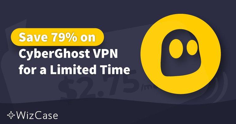 Coupon per la VPN CyberGhost Valido per il 2020: Risparmia sino al 79% Oggi